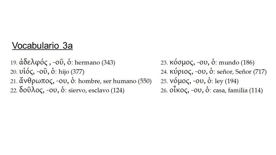 Vocabulario 3a
