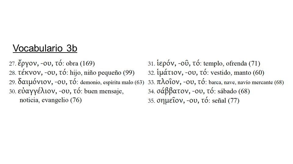 Vocabulario 3b