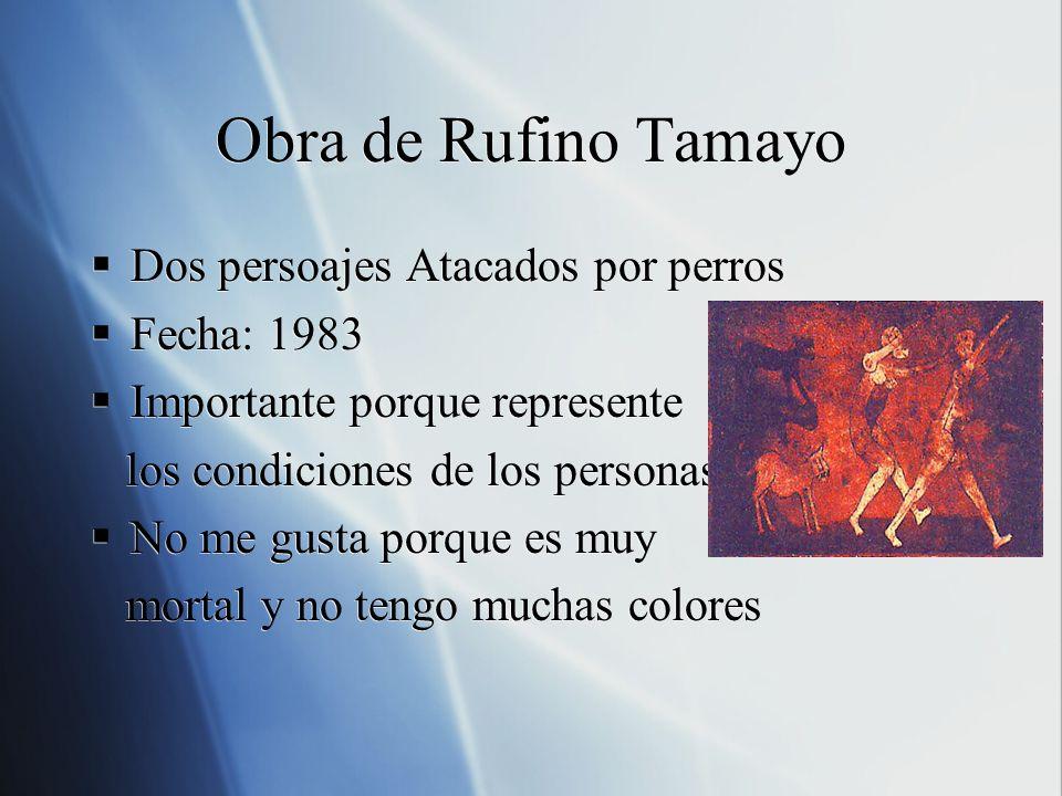 Obra de Rufino Tamayo Dos persoajes Atacados por perros Fecha: 1983