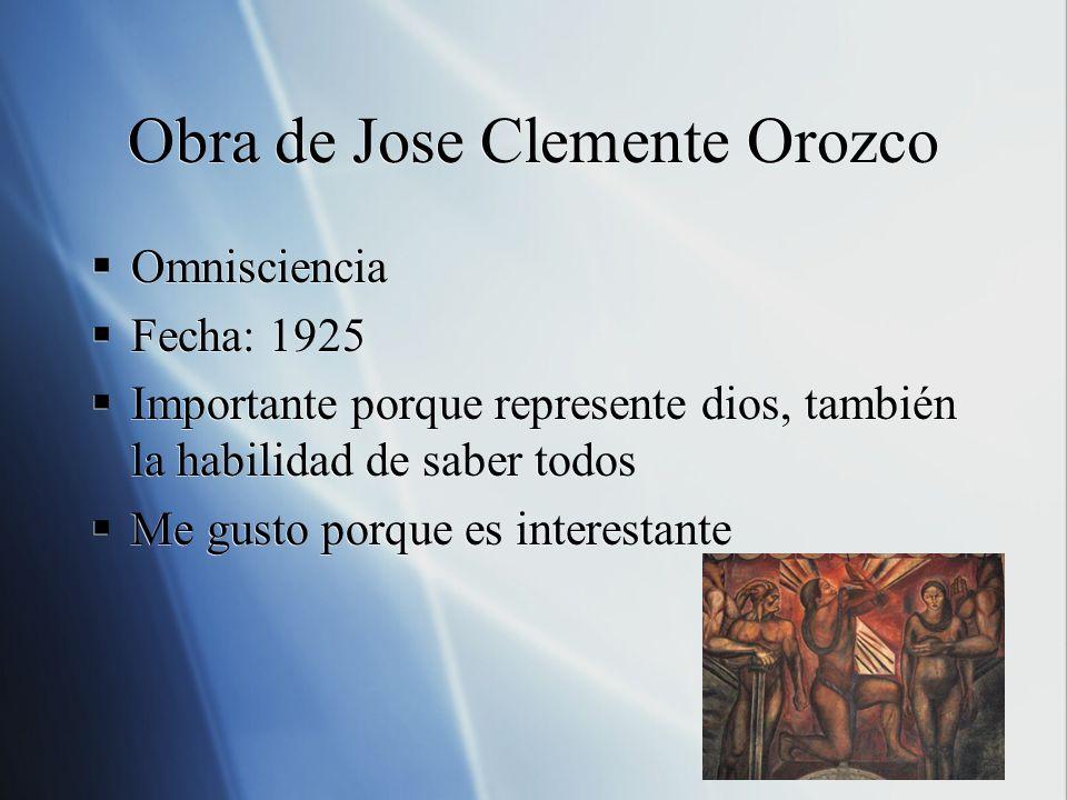 Obra de Jose Clemente Orozco