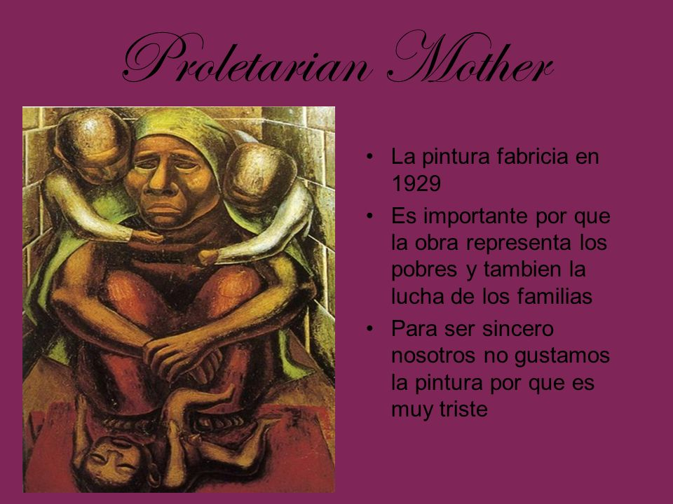 Proletarian Mother La pintura fabricia en 1929