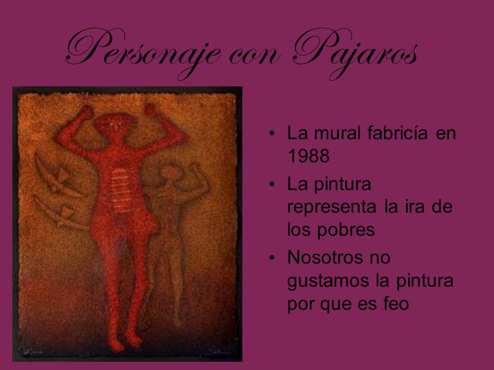 Personaje con Pajaros La mural fabricía en 1988