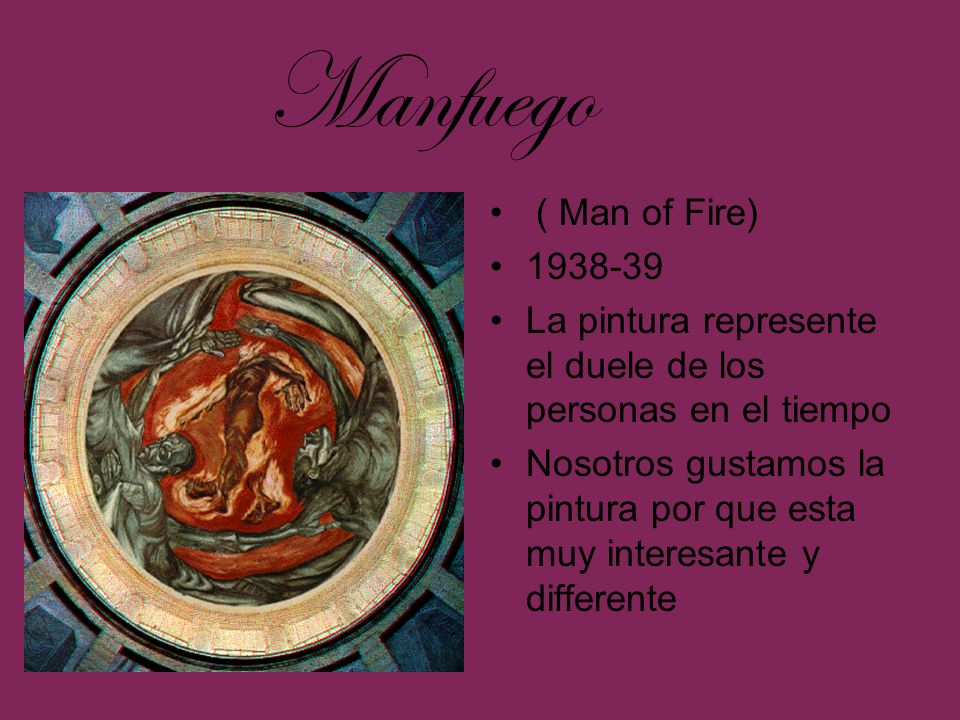 Manfuego ( Man of Fire) 1938-39