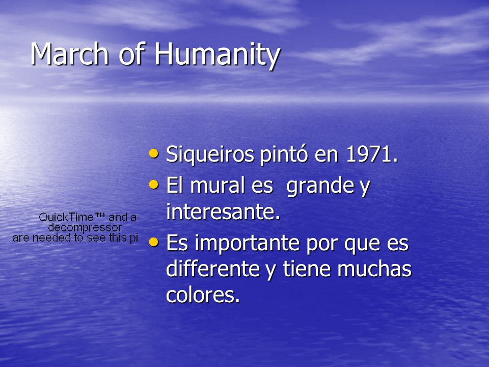 March of Humanity Siqueiros pintó en 1971.
