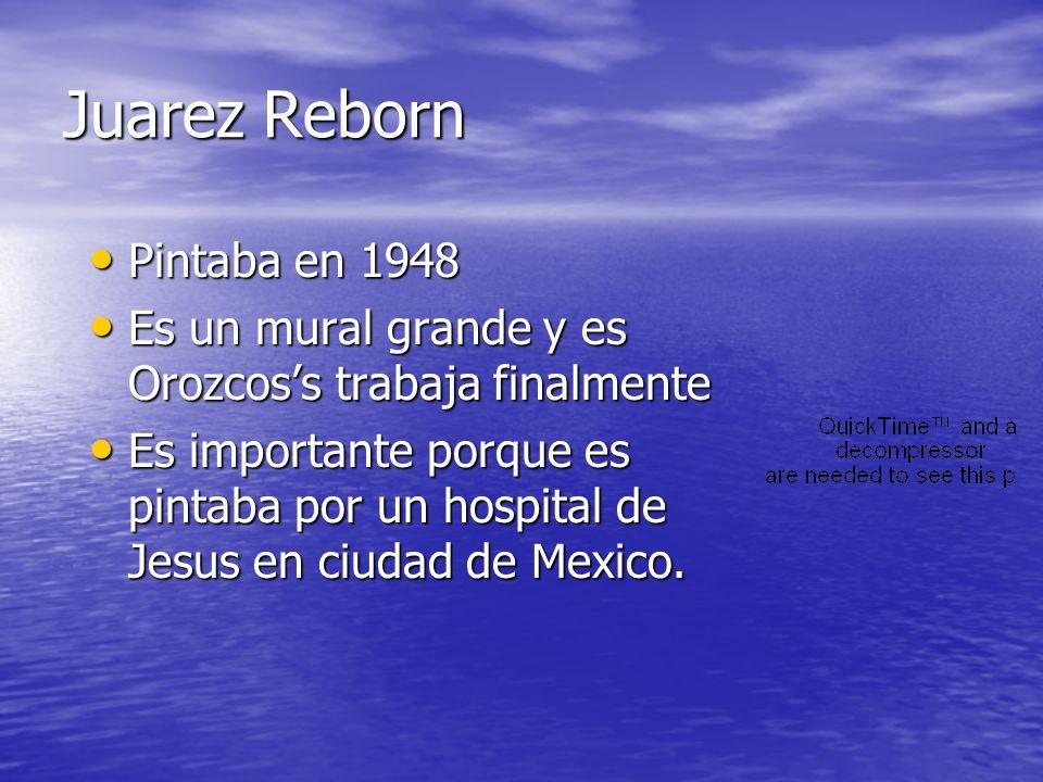 Juarez Reborn Pintaba en 1948