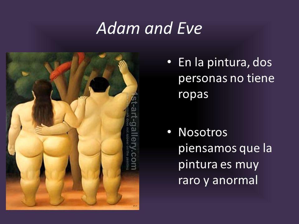 Adam and Eve En la pintura, dos personas no tiene ropas