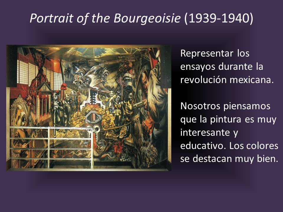 Portrait of the Bourgeoisie (1939-1940)