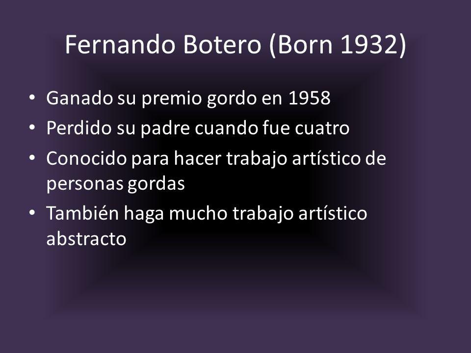 Fernando Botero (Born 1932)