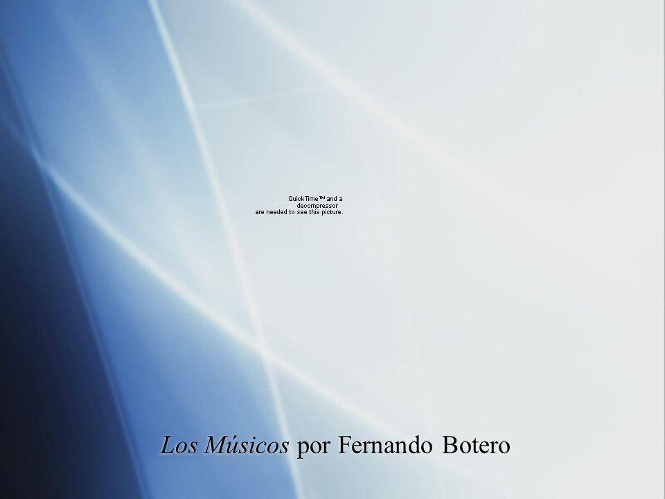 Los Músicos por Fernando Botero