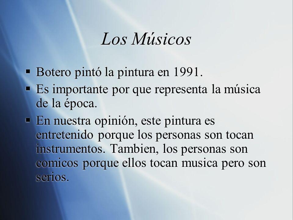 Los Músicos Botero pintó la pintura en 1991.