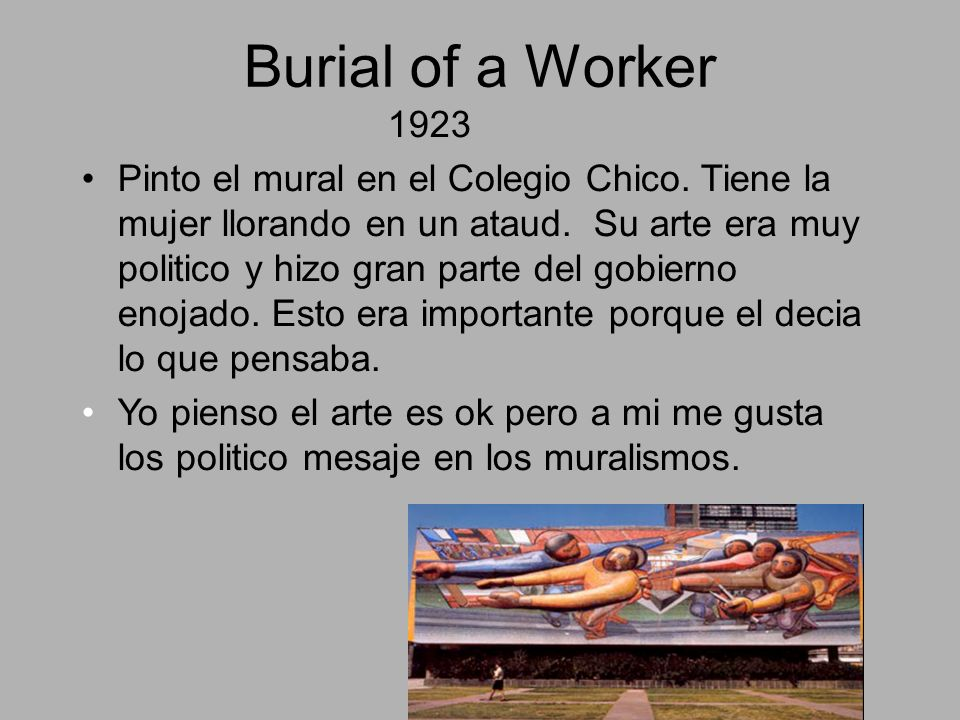 Burial of a Worker 1923.