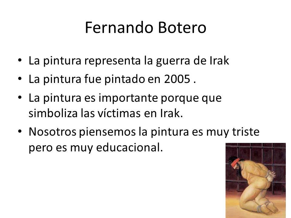 Fernando Botero La pintura representa la guerra de Irak