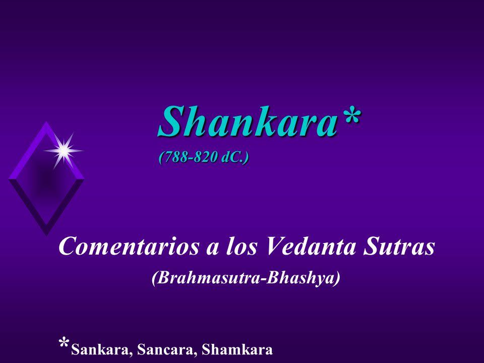 Comentarios a los Vedanta Sutras (Brahmasutra-Bhashya)