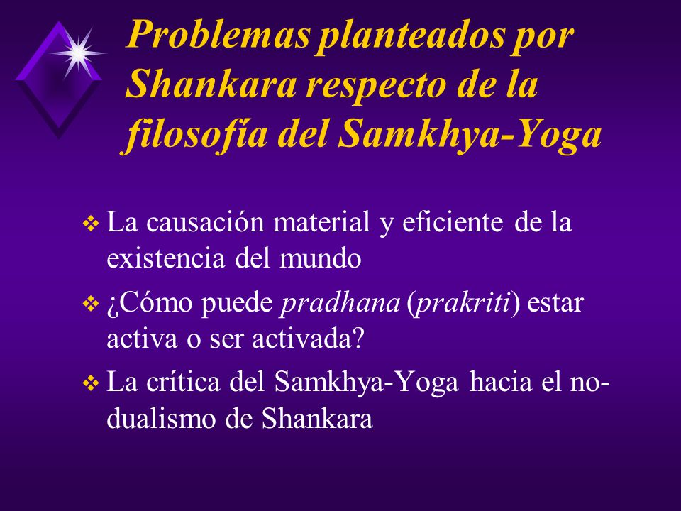 Problemas planteados por Shankara respecto de la filosofía del Samkhya-Yoga