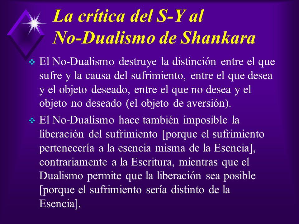 La crítica del S-Y al No-Dualismo de Shankara
