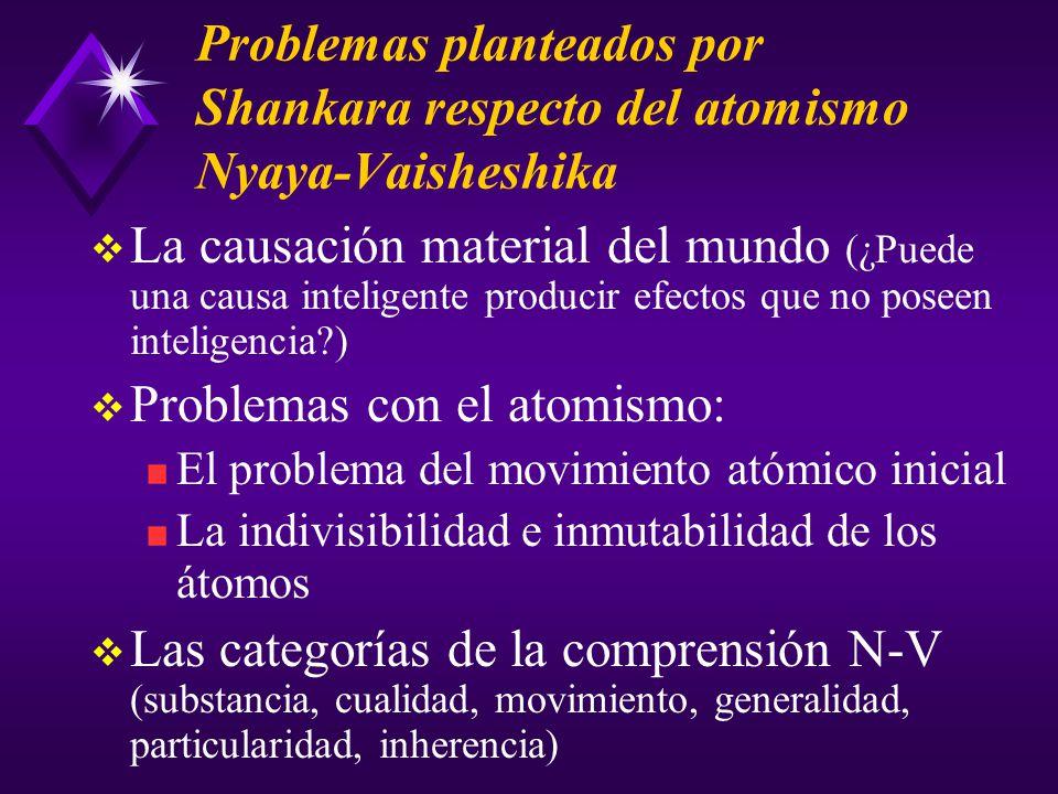 Problemas con el atomismo: