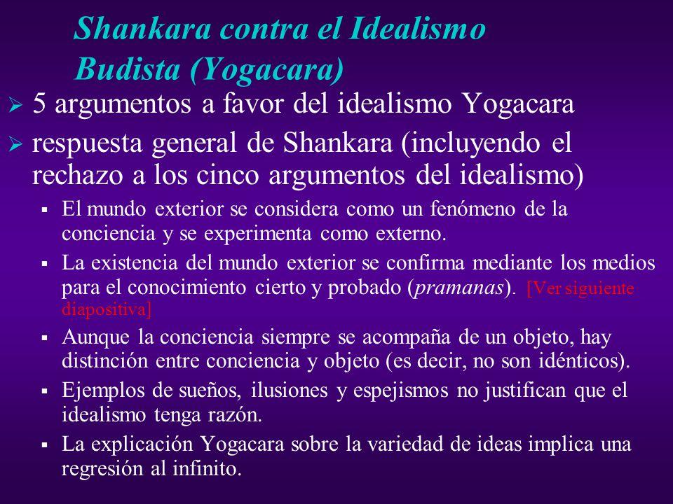 Shankara contra el Idealismo Budista (Yogacara)