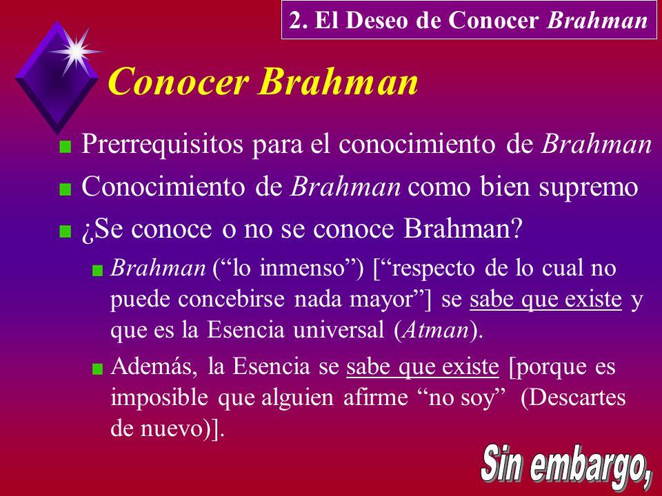 2. El Deseo de Conocer Brahman