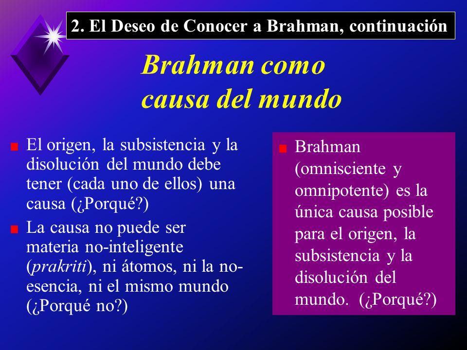 Brahman como causa del mundo