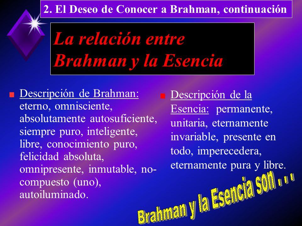 La relación entre Brahman y la Esencia