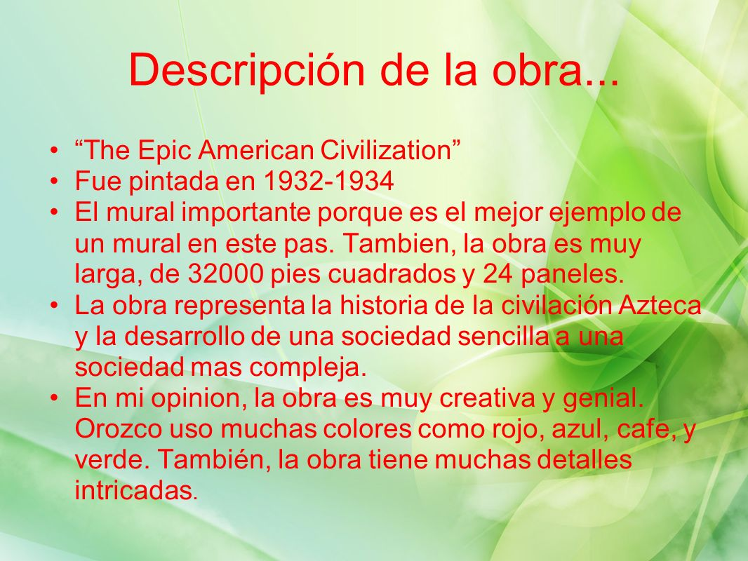 Descripción de la obra... The Epic American Civilization