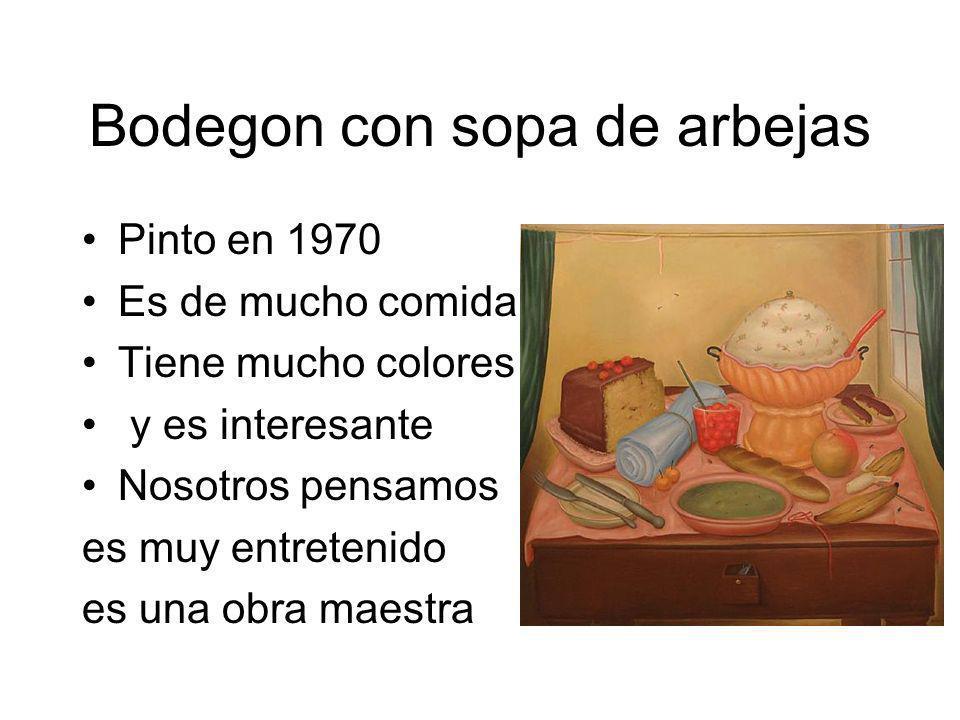 Bodegon con sopa de arbejas