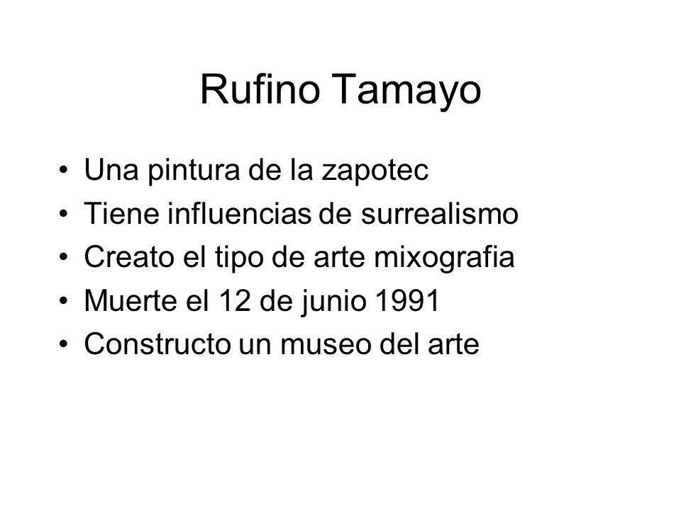 Rufino Tamayo Una pintura de la zapotec