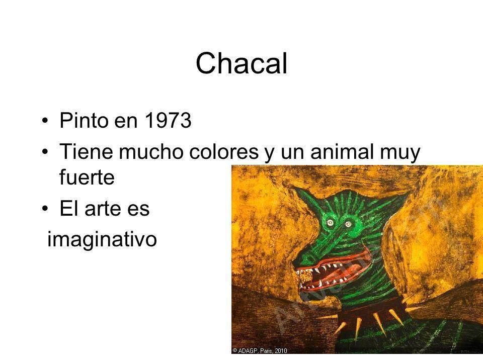 Chacal Pinto en 1973 Tiene mucho colores y un animal muy fuerte
