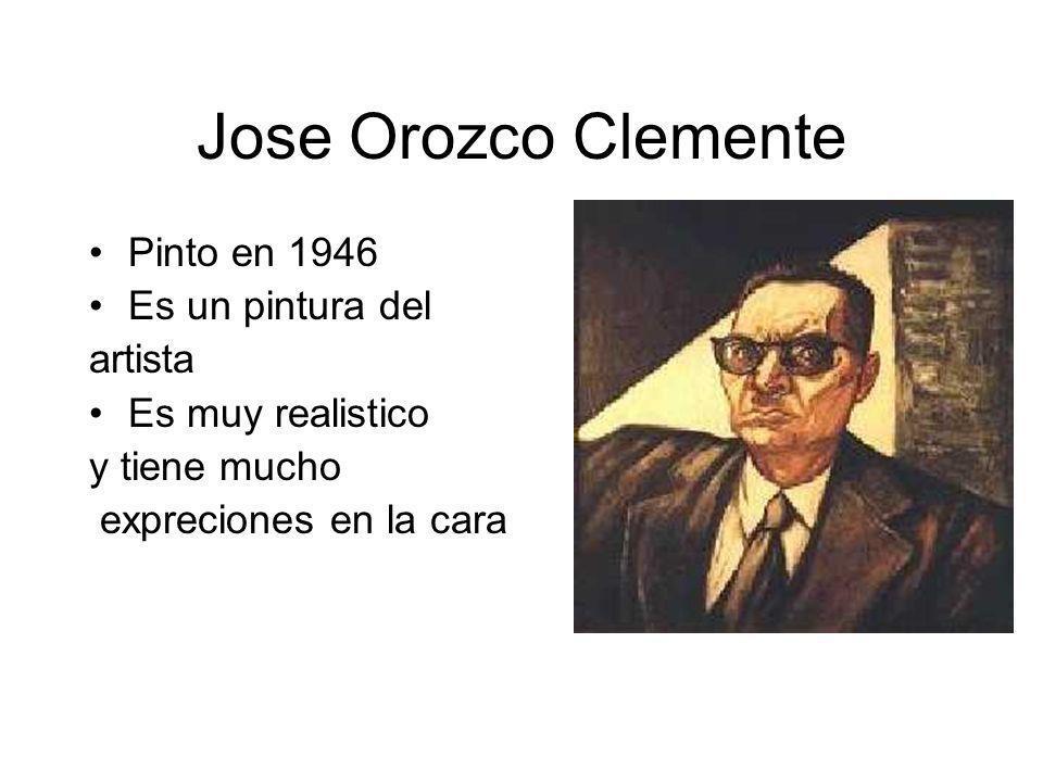 Jose Orozco Clemente Pinto en 1946 Es un pintura del artista