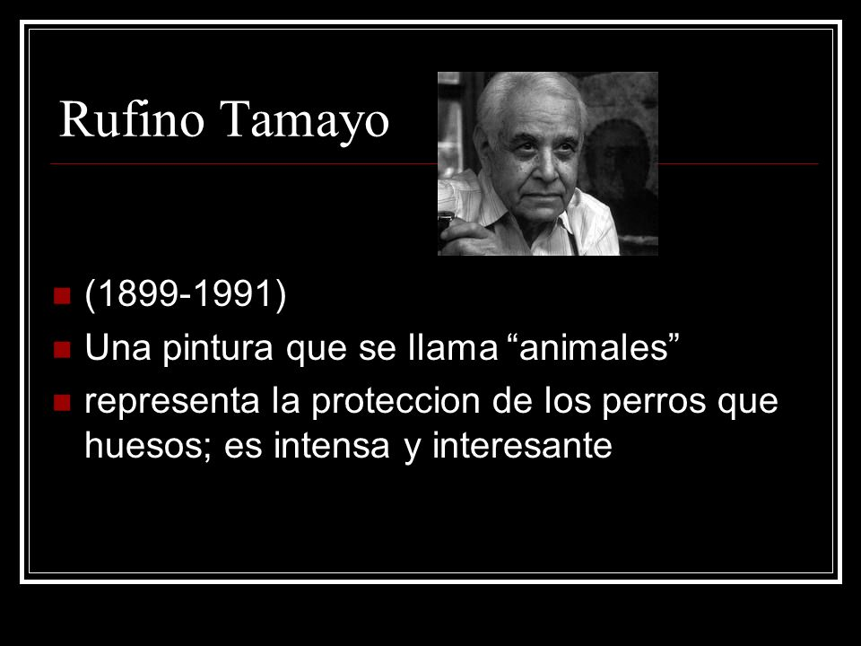 Rufino Tamayo (1899-1991) Una pintura que se llama animales