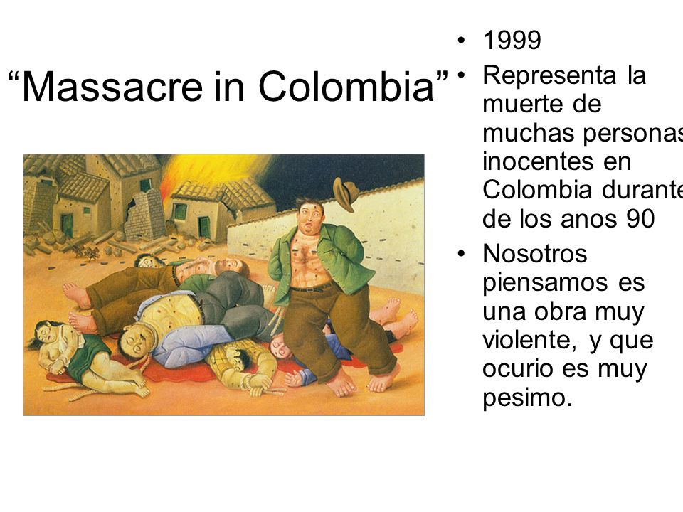 Massacre in Colombia
