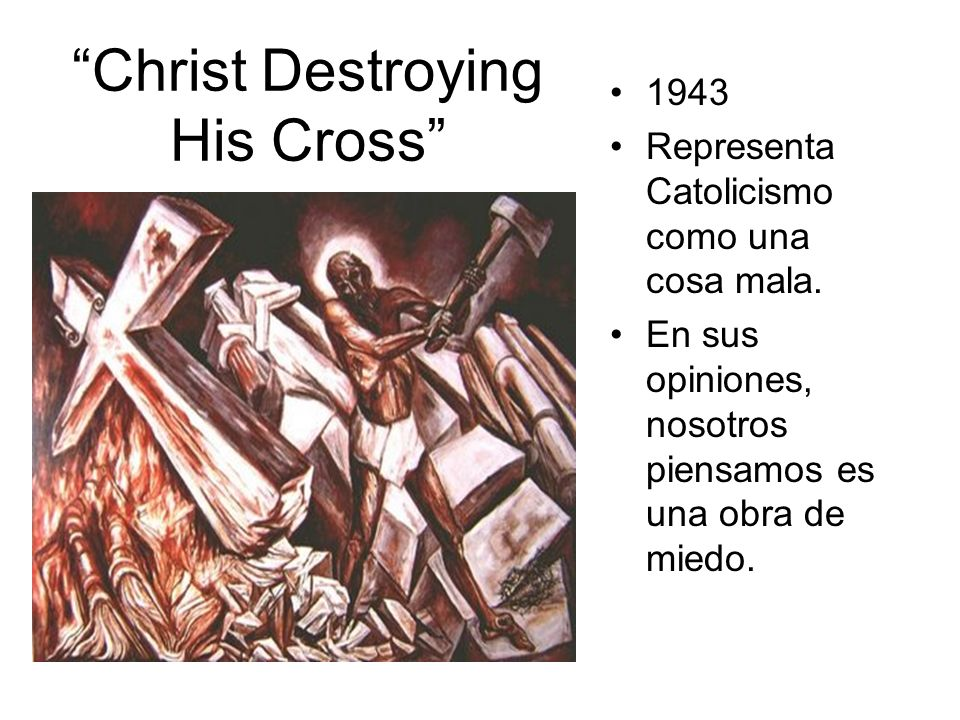 Christ Destroying His Cross