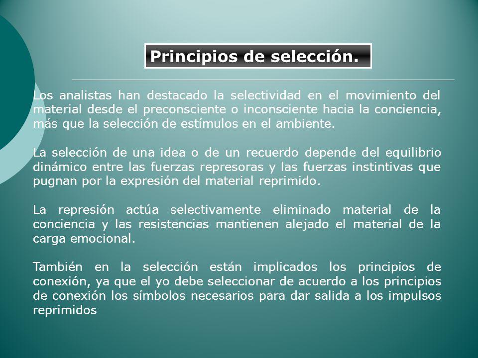Principios de selección.