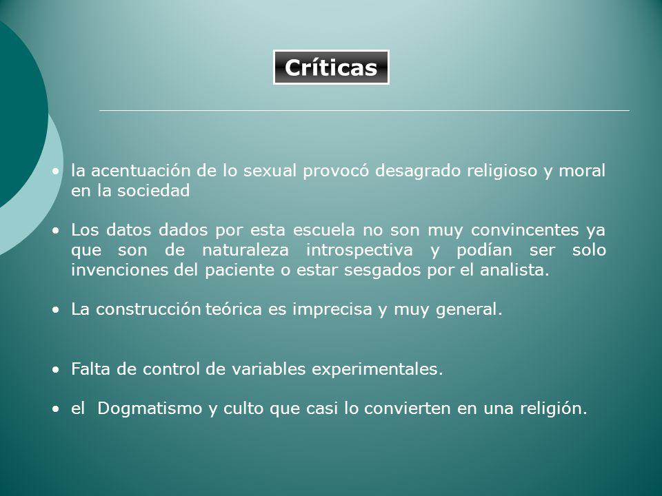 Críticas la acentuación de lo sexual provocó desagrado religioso y moral en la sociedad.