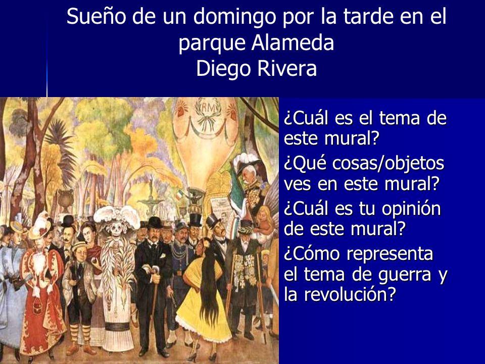Sueño de un domingo por la tarde en el parque Alameda Diego Rivera