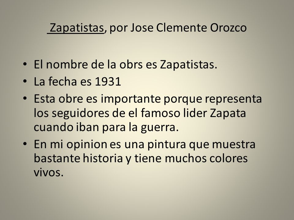 Zapatistas, por Jose Clemente Orozco