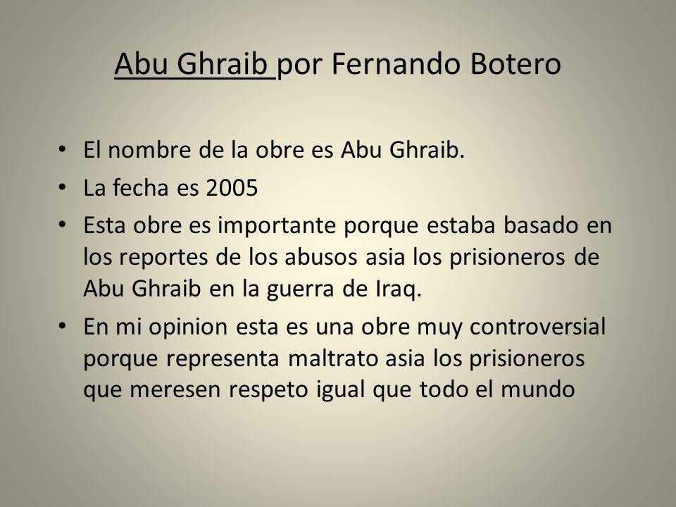 Abu Ghraib por Fernando Botero