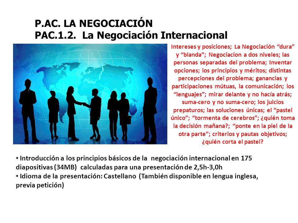 PAC.1.2. La Negociación Internacional