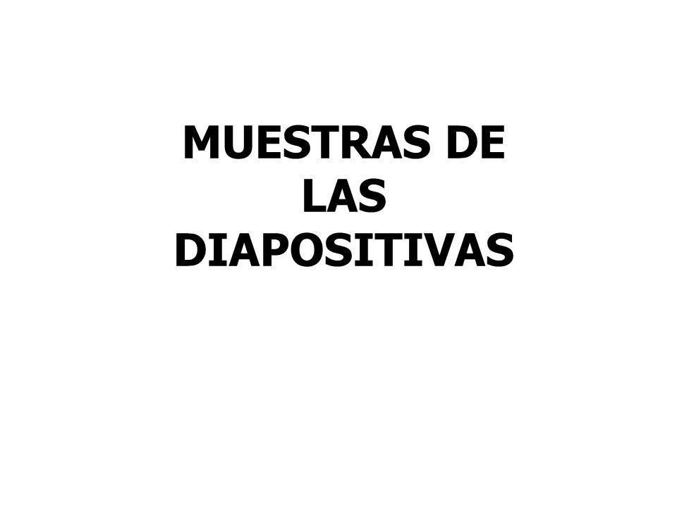 MUESTRAS DE LAS DIAPOSITIVAS