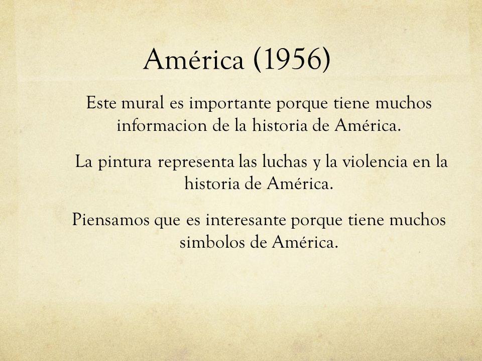Piensamos que es interesante porque tiene muchos simbolos de América.