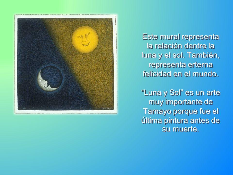 Este mural representa la relación dentre la luna y el sol