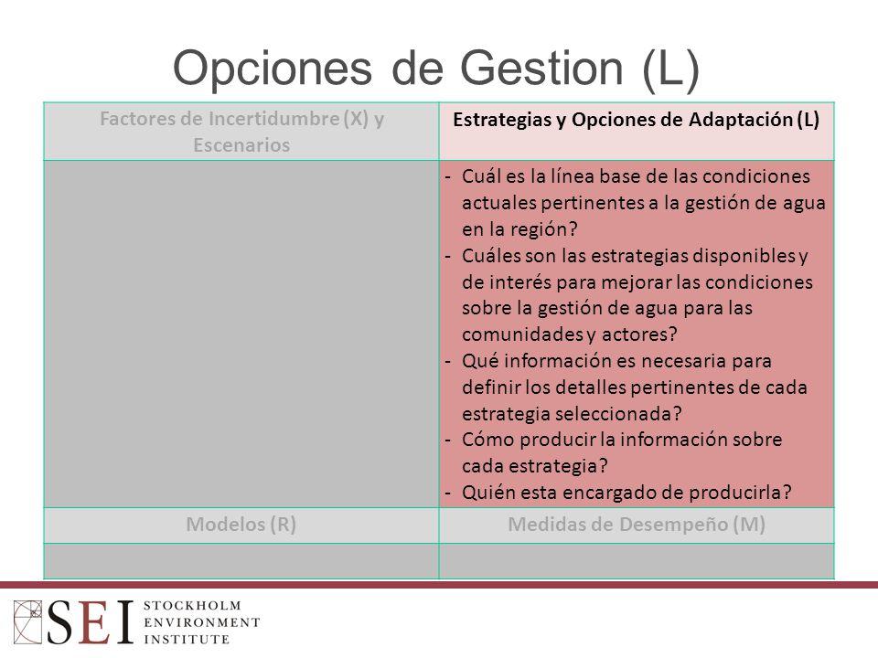 Opciones de Gestion (L)