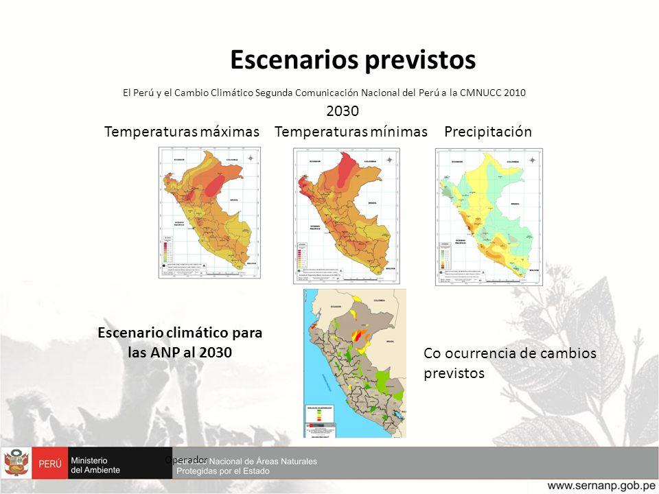 Escenario climático para las ANP al 2030
