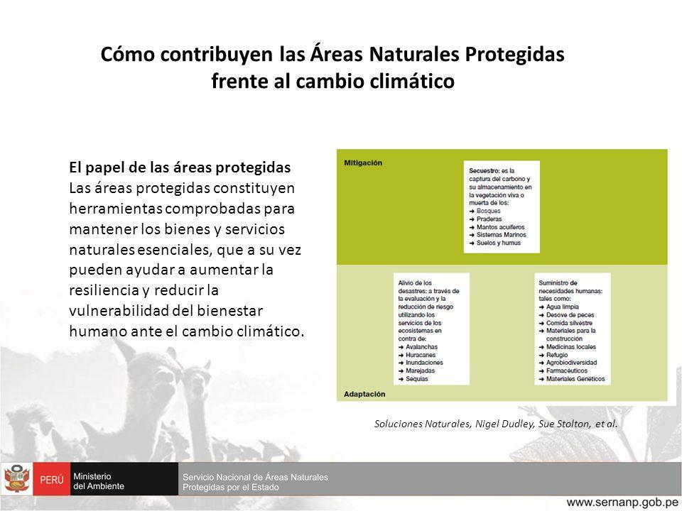 Cómo contribuyen las Áreas Naturales Protegidas frente al cambio climático