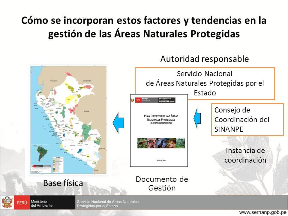 Cómo se incorporan estos factores y tendencias en la gestión de las Áreas Naturales Protegidas