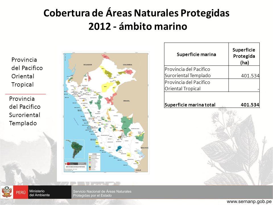 Cobertura de Áreas Naturales Protegidas 2012 - ámbito marino
