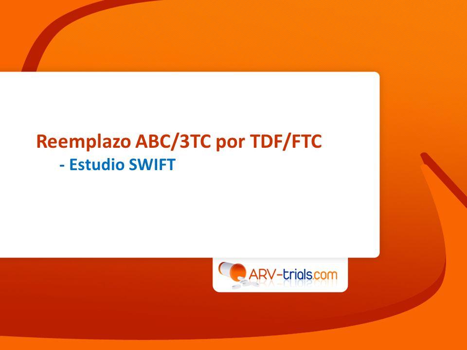 Reemplazo ABC/3TC por TDF/FTC