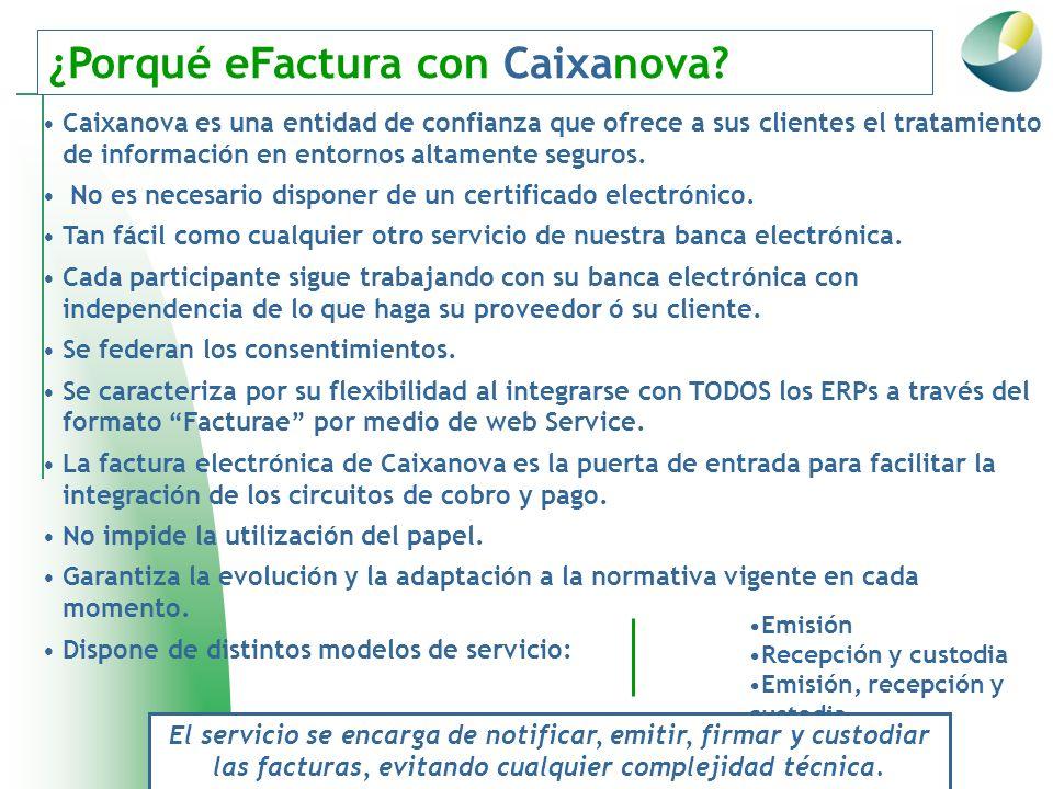 ¿Porqué eFactura con Caixanova