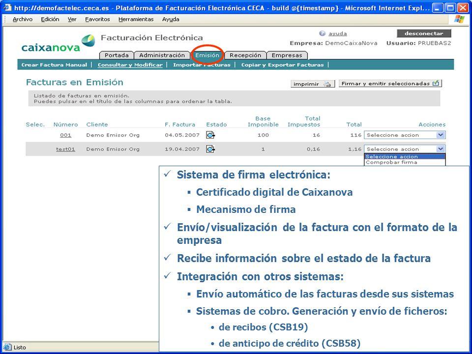 Sistema de firma electrónica: