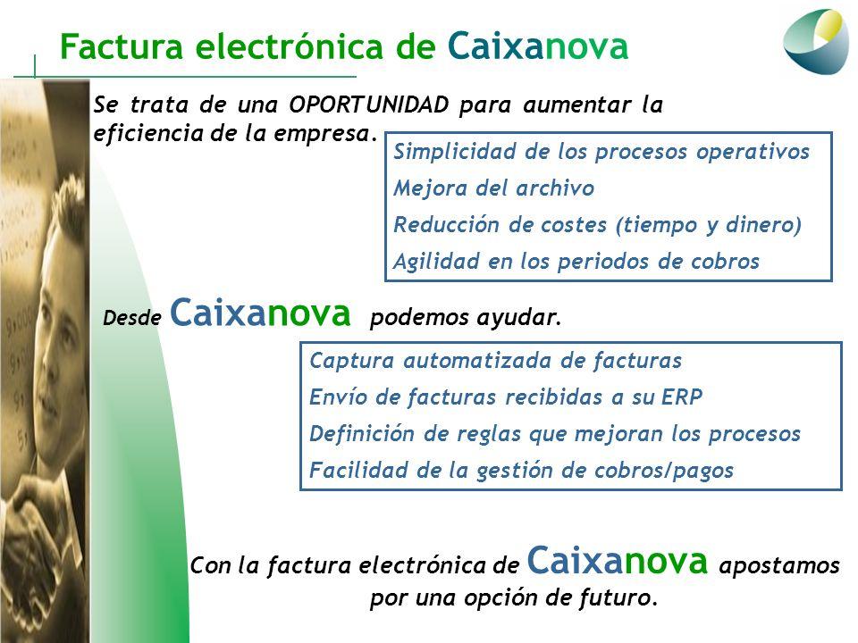 Factura electrónica de Caixanova